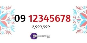 เบอร์รับโชค 09 12345678